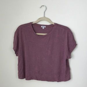 Splendid | Burgundy Cropped Top T-shrit | M